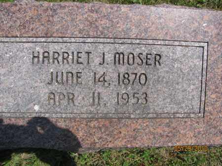 NICHOLS MOSER, HARRIET JANE - Saline County, Nebraska   HARRIET JANE NICHOLS MOSER - Nebraska Gravestone Photos