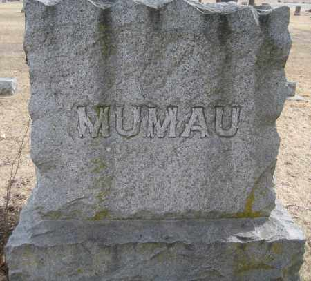 MUMAU, FAMILY MONUMENT - Saline County, Nebraska   FAMILY MONUMENT MUMAU - Nebraska Gravestone Photos