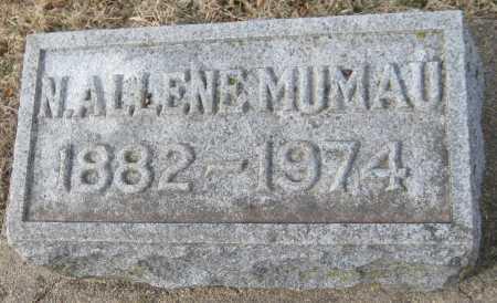 MUMAU, N. ALLENE - Saline County, Nebraska | N. ALLENE MUMAU - Nebraska Gravestone Photos