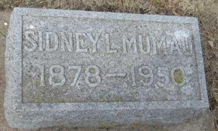MUMAU, SIDNEY L. - Saline County, Nebraska | SIDNEY L. MUMAU - Nebraska Gravestone Photos