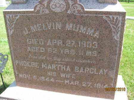 "MUMMA, JOHN ""MELVIN"" - Saline County, Nebraska | JOHN ""MELVIN"" MUMMA - Nebraska Gravestone Photos"