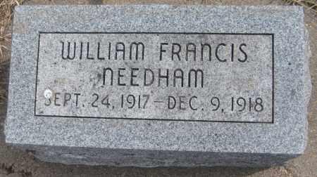 NEEDHAM, WILLIAM FRANCES - Saline County, Nebraska | WILLIAM FRANCES NEEDHAM - Nebraska Gravestone Photos