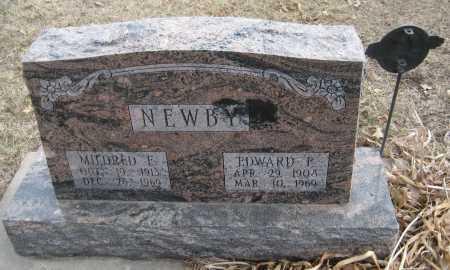 NEWBY, MILDRED E. - Saline County, Nebraska | MILDRED E. NEWBY - Nebraska Gravestone Photos