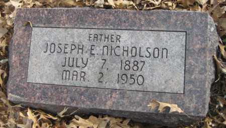 NICHOLSON, JOSEPH E. - Saline County, Nebraska | JOSEPH E. NICHOLSON - Nebraska Gravestone Photos