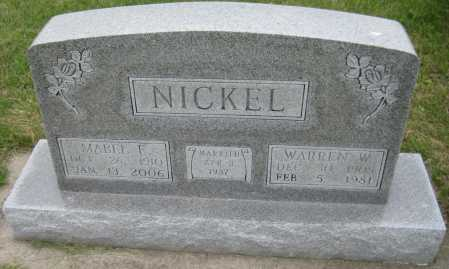 NICKEL, WARREN W. - Saline County, Nebraska | WARREN W. NICKEL - Nebraska Gravestone Photos