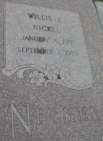 NICKEL, WILLIS E. - Saline County, Nebraska | WILLIS E. NICKEL - Nebraska Gravestone Photos
