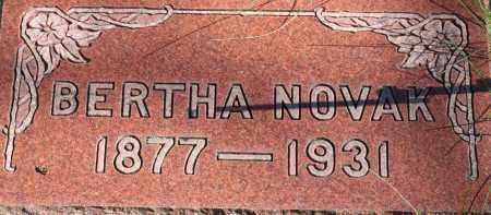 NOVAK, BERTHA - Saline County, Nebraska | BERTHA NOVAK - Nebraska Gravestone Photos