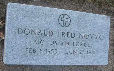 NOVAK, DONALD FRED - Saline County, Nebraska | DONALD FRED NOVAK - Nebraska Gravestone Photos