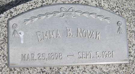 NOVAK, EMMA B. - Saline County, Nebraska | EMMA B. NOVAK - Nebraska Gravestone Photos