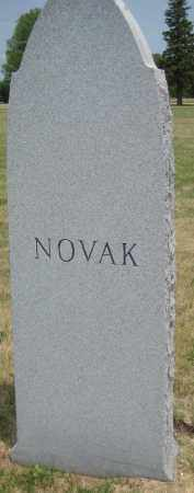 NOVAK, FAMILY MONUMENT - Saline County, Nebraska | FAMILY MONUMENT NOVAK - Nebraska Gravestone Photos