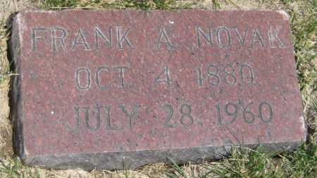 NOVAK, FRANK A. - Saline County, Nebraska | FRANK A. NOVAK - Nebraska Gravestone Photos