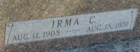 NOVAK, IRMA C. - Saline County, Nebraska | IRMA C. NOVAK - Nebraska Gravestone Photos