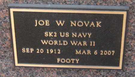 NOVAK, JOE W. - Saline County, Nebraska | JOE W. NOVAK - Nebraska Gravestone Photos