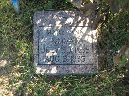 NOVAK, MARY ANN - Saline County, Nebraska | MARY ANN NOVAK - Nebraska Gravestone Photos