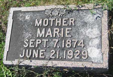 NOVAK, MARIE - Saline County, Nebraska   MARIE NOVAK - Nebraska Gravestone Photos