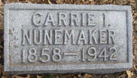 NUNEMAKER, CARRIE I. - Saline County, Nebraska | CARRIE I. NUNEMAKER - Nebraska Gravestone Photos
