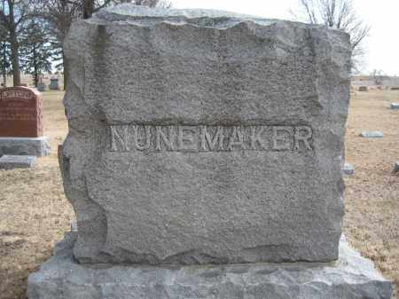 NUNEMAKER, FAMILY MONUMENT - Saline County, Nebraska   FAMILY MONUMENT NUNEMAKER - Nebraska Gravestone Photos