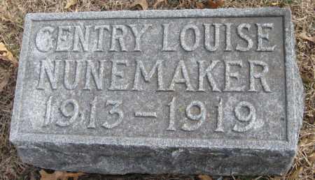 NUNEMAKER, GENTRY LOUISE - Saline County, Nebraska   GENTRY LOUISE NUNEMAKER - Nebraska Gravestone Photos
