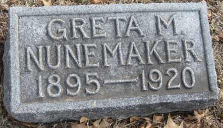 NUNEMAKER, GRETA M. - Saline County, Nebraska | GRETA M. NUNEMAKER - Nebraska Gravestone Photos