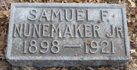 NUNEMAKER, SAMUEL F. JR. - Saline County, Nebraska | SAMUEL F. JR. NUNEMAKER - Nebraska Gravestone Photos