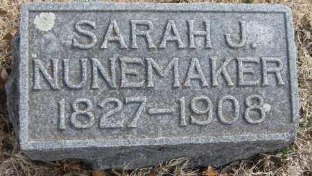 NUNEMAKER, SARAH J. - Saline County, Nebraska | SARAH J. NUNEMAKER - Nebraska Gravestone Photos
