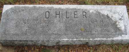 OHLER, EVA H. - Saline County, Nebraska | EVA H. OHLER - Nebraska Gravestone Photos