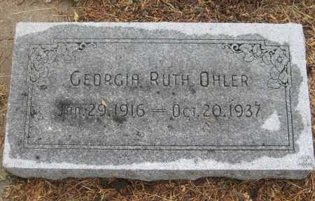 OHLER, GEORGIA RUTH - Saline County, Nebraska | GEORGIA RUTH OHLER - Nebraska Gravestone Photos
