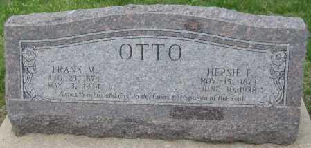 OTTO, FRANK M. - Saline County, Nebraska | FRANK M. OTTO - Nebraska Gravestone Photos