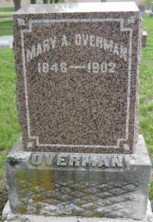 OVERMAN, MARY A. - Saline County, Nebraska | MARY A. OVERMAN - Nebraska Gravestone Photos