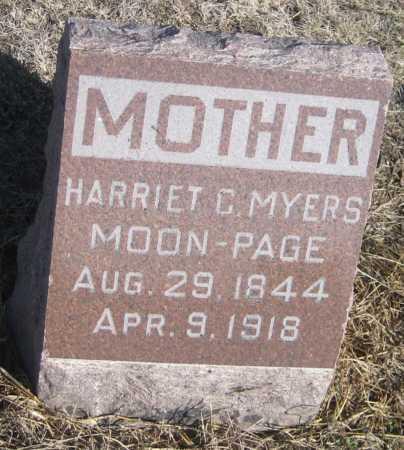 PAGE, HARRIET C. - Saline County, Nebraska   HARRIET C. PAGE - Nebraska Gravestone Photos