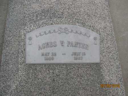 PANTER, AGNES V. - Saline County, Nebraska | AGNES V. PANTER - Nebraska Gravestone Photos
