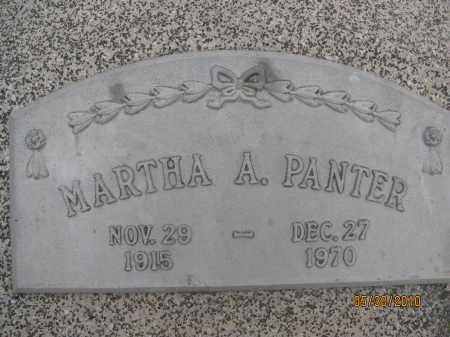 PANTER, MARTHA A. - Saline County, Nebraska   MARTHA A. PANTER - Nebraska Gravestone Photos