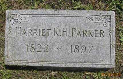 PARKER, HARRIET K. H. - Saline County, Nebraska   HARRIET K. H. PARKER - Nebraska Gravestone Photos