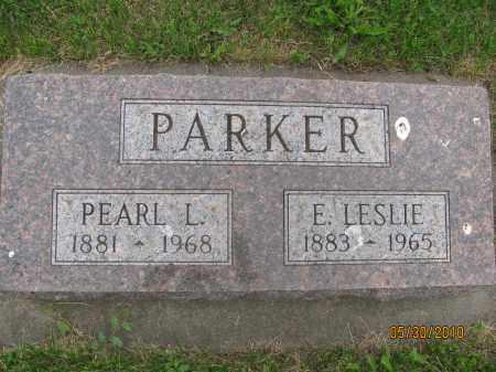 PARKER, LESLIE E. - Saline County, Nebraska | LESLIE E. PARKER - Nebraska Gravestone Photos