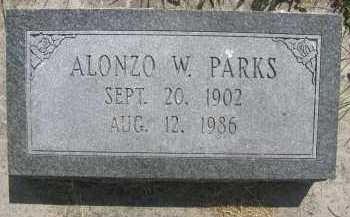 PARKS, ALONZO WILLIAM - Saline County, Nebraska | ALONZO WILLIAM PARKS - Nebraska Gravestone Photos