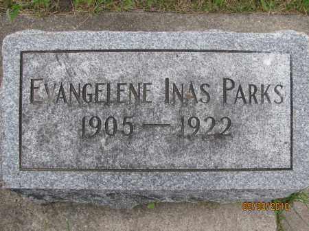 PARKS, EVANGELENE INAS - Saline County, Nebraska   EVANGELENE INAS PARKS - Nebraska Gravestone Photos