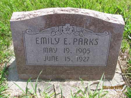PARKS, EMILY ELLEN - Saline County, Nebraska | EMILY ELLEN PARKS - Nebraska Gravestone Photos
