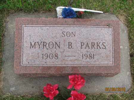 PARKS, MYRON BRUCE - Saline County, Nebraska   MYRON BRUCE PARKS - Nebraska Gravestone Photos