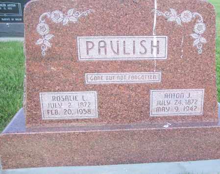 PAVLISH, ANTON AND ROSALIE - Saline County, Nebraska | ANTON AND ROSALIE PAVLISH - Nebraska Gravestone Photos