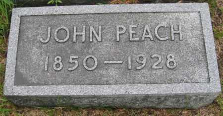 PEACH, JOHN - Saline County, Nebraska   JOHN PEACH - Nebraska Gravestone Photos