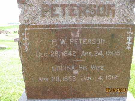 PETERSON, PETER W. - Saline County, Nebraska   PETER W. PETERSON - Nebraska Gravestone Photos