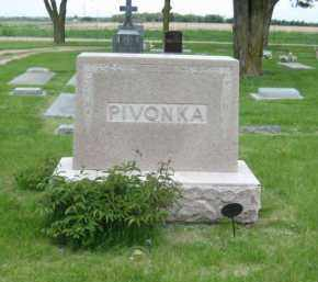 PIVONKA, FAMILY STONE - Saline County, Nebraska | FAMILY STONE PIVONKA - Nebraska Gravestone Photos