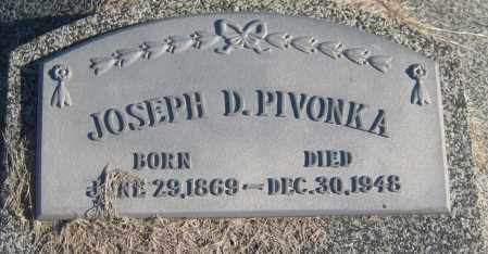 PIVONKA, JOSEPH D. - Saline County, Nebraska   JOSEPH D. PIVONKA - Nebraska Gravestone Photos