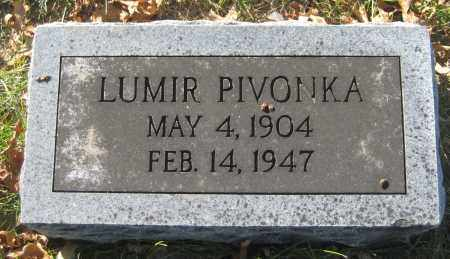 PIVONKA, LUMIR - Saline County, Nebraska   LUMIR PIVONKA - Nebraska Gravestone Photos