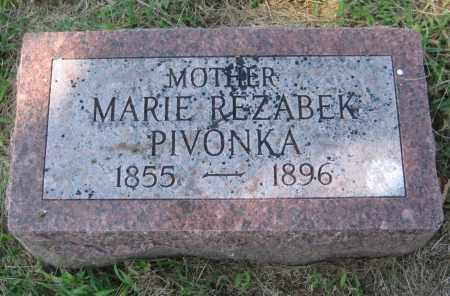 "PIVONKA, ANNA ""MARIE"" - Saline County, Nebraska   ANNA ""MARIE"" PIVONKA - Nebraska Gravestone Photos"