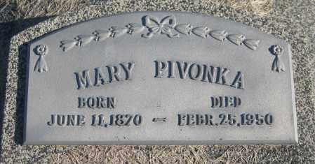 PIVONKA, MARY - Saline County, Nebraska | MARY PIVONKA - Nebraska Gravestone Photos