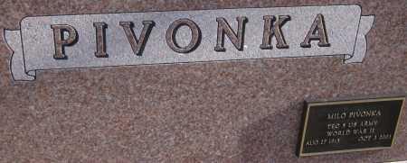 PIVONKA, MILO - Saline County, Nebraska | MILO PIVONKA - Nebraska Gravestone Photos