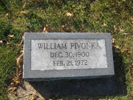 PIVONKA, WILLIAM - Saline County, Nebraska   WILLIAM PIVONKA - Nebraska Gravestone Photos
