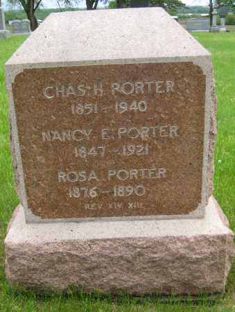 PORTER, NANCY E. - Saline County, Nebraska | NANCY E. PORTER - Nebraska Gravestone Photos