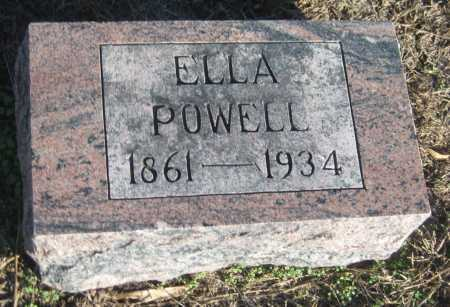 POWELL, ELLA - Saline County, Nebraska | ELLA POWELL - Nebraska Gravestone Photos